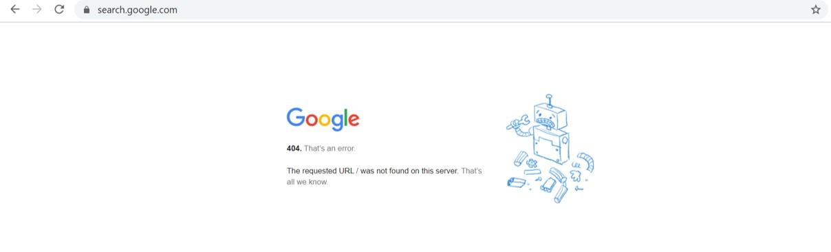 Erreur HTTP 404